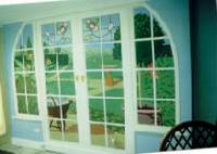 Fake french doors